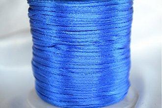 Galantéria - Šnúrka saténová kráľovská modrá, 1mm, 0.17€/meter - 4104636_