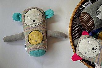 Hračky - medvedík - zelené uško - 4106562_