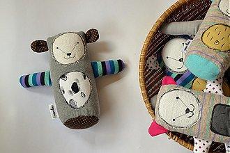 Hračky - medvedík - pruhovaná labka - 4106594_