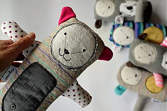 Hračky - medvedica - ružové uško - 4106649_