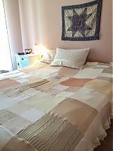 Úžitkový textil - Romantická prikrývka zo svetrov - 4105258_