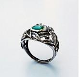 Prstene - Chalcedony leaves ring - 4108939_