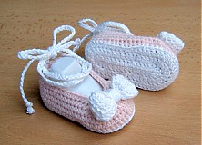 Topánočky - Mašličkové balerínky - 4109916_