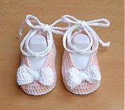 Topánočky - Mašličkové balerínky - 4109917_