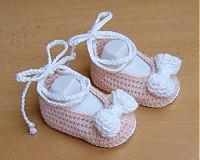 Topánočky - Mašličkové balerínky - 4109918_