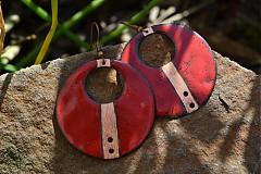 Náušnice - červené - 4108171_