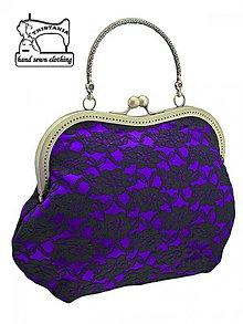 Kabelky - Spoločenská kabelka, kabelka dámská fialová 1055 - 4111625_