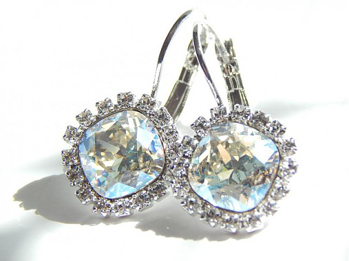 9d7224bdd Strasove rhodium nausnice so Swarovski kristalom / kamalinka - SAShE ...
