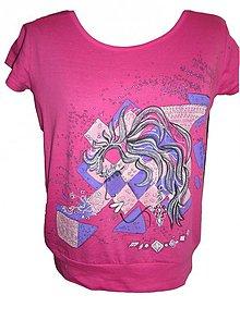 Tričká - tričko ružová maja - 4112308_