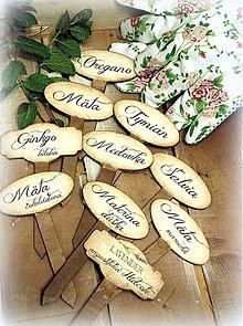 Tabuľky - Zápich do byliniek/kvetov - 4112829_