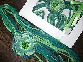 Náhrdelníky - Textilný náhrdelník 01_OB - 4111746_