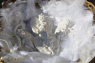 Darčeky pre svadobčanov - Anjelik pre šťastie - 4114612_