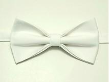 Doplnky - Biely svadobný motýlik - 4116067_