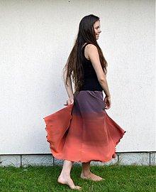 Sukne - Hedvábná sukně nejen pro zrzky - 4115775_