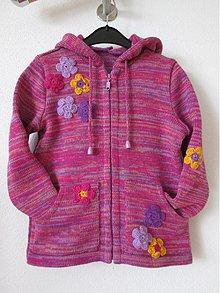 Detské oblečenie - Růžovofialkový dětský svetřík - 4119701_