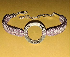 Náramky - Jemný fialový náramok WISH - 4116295_