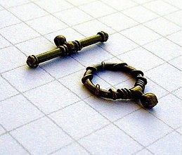 Komponenty - Americké zapínanie antik, 10 ks - 4116276_