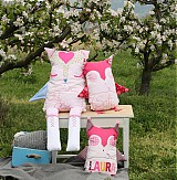 Hračky - Veľká textilná sova s vyšívaným menom na želanie - 4117857_