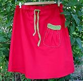 Sukne - červenojabĺčková letnička suknička - 4119128_