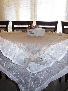 Úžitkový textil - Ľanový obrus Simply Nature - 4116779_