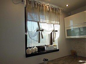 Úžitkový textil - Ľanová záclonka Simply Nature - 4116870_