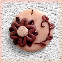Náhrdelníky - Kávový kvet - prívesok NA ZÁKAZKU - 4118225_