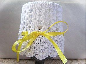 Detské čiapky - Letná biela - 4120389_