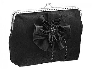 Kabelky - Spoločenská dámská kabelka  čierna 08501A - 4123295_