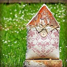 Dekorácie - Vidiecky Domček Vyšívaný - 4121235_