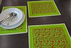 Úžitkový textil - Lesné jahody - podložky pod taniere - 4121938_