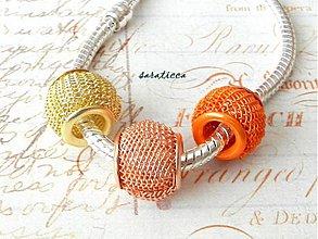 Komponenty - drôtená pandorka 1 kus oranžová - 4125019_