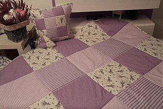 Úžitkový textil - levanduľa fialova deka 220x220 cm - 4125761_