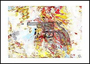 Obrazy - AKCIA -revolver - 4125621_