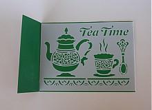 Pomôcky/Nástroje - Šablóna Tea Time - 4126346_