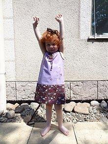 Detské oblečenie - retro šaty-Návraty do detstva - fialkové - 4126986_