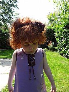 Detské oblečenie - retro šaty-Návraty do detstva - fialkové (92-98) - 4127002_