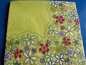 Papier - Servítky  kvety 7 - 4124061_