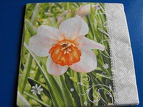 Papier - Servítky  kvety 8 - 4124072_