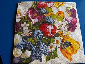 Papier - servítky kvety 9 - 4124078_
