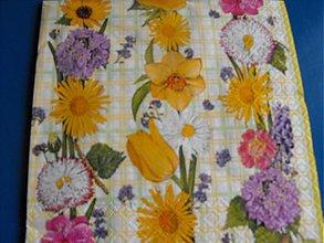 Papier - Servítky  kvety 10 - 4124088_