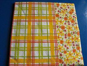Papier - Servítky  kvety 11 - 4124090_