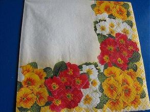 Papier - Servítky  kvety 12 - 4124098_