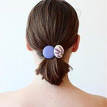 - Gumičky do vlasov s buttonkami Levanduľové - 4124938_