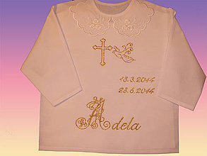 Detské oblečenie - Košielky na krst - 4128944_