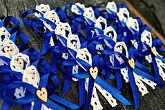 Pierka - kráľovská modrá s čipkou - 4128004_