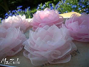 Ozdoby do vlasov - ružové do vláskov pre družičky - 4127427_