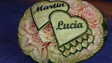 Dekorácie - Svadobný melón - Martin&Lucia - 4129814_
