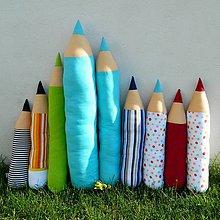 Úžitkový textil - Ceruzky - vankúše - 4129431_