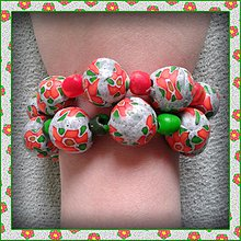 Náramky - Jednoduchý (a predsa zložitý) kvetový náramok NA ZÁKAZKU. - 4127141_