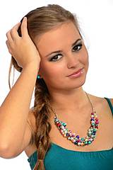 Náhrdelníky - Farebné perličky - 4133600_